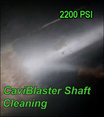 Caviblaster Shaft Cleaning
